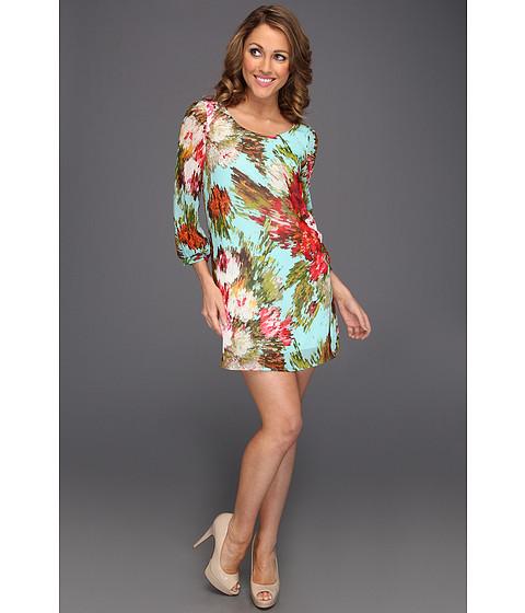 Rochii Gabriella Rocha - Fauna Floral Kaleidoscope Dress - Light Blue