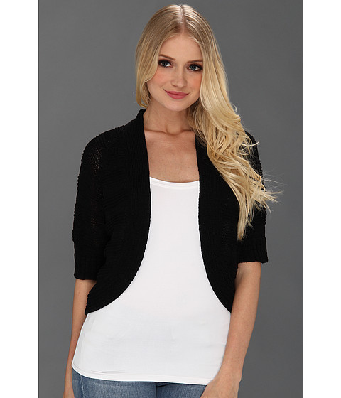Tricouri Calvin Klein - Three Quarter Sleeve Circle Shrug - Black