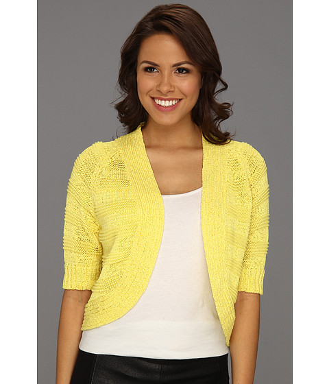 Tricouri Calvin Klein - Three Quarter Sleeve Circle Shrug - Lemon Drop
