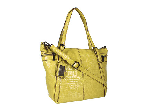 Genti de voiaj Kenneth Cole Reaction - Mercer Street Tote Croco - Chartreuse