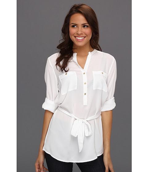 Tricouri Calvin Klein - Tab Roll Sleeve Blouse - Alabaster