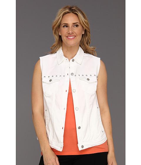 Sacouri DKNY - Plus Size Studded Denim Vest - White