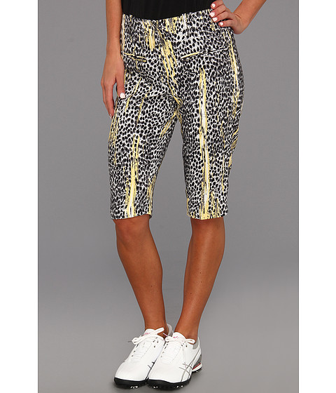 "Pantaloni DKNY - Animal Print 24"" Knee Capri - Jet Black"