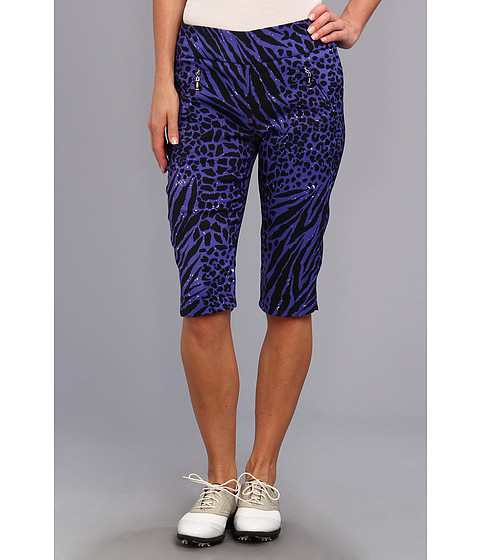 "Pantaloni DKNY - Animal Print 24"" Knee Capri - Bahama Blue"