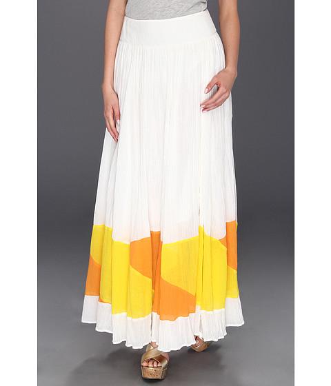 Fuste Free People - Sheer Colorblock Skirt - Ivory