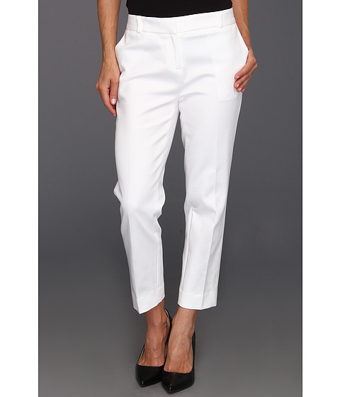 Pantaloni Anne Klein New York - Petite Slim Crop Pant - White