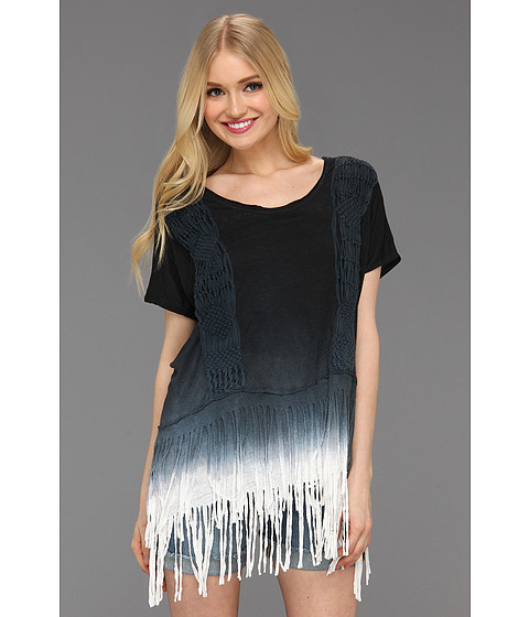 Tricouri Free People - Rough Rider Ombre Tee - Black Combo