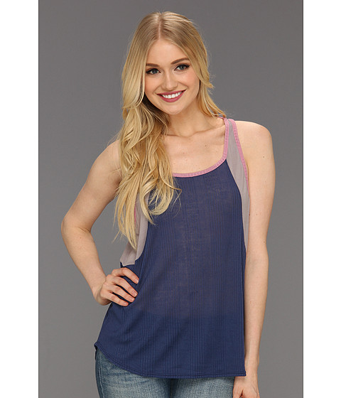 Tricouri Free People - Colorblock Boy Tank - Navy Combo