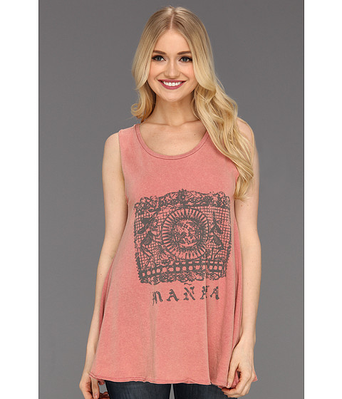 Tricouri Free People - Slumber Party Graphic Tank - Dust Rust Combo
