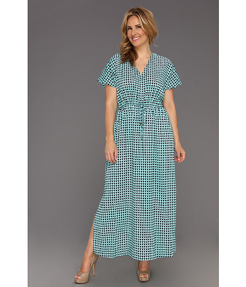 Rochii Michael Kors - Plus Size Square Long Dress - Washed Turquoise