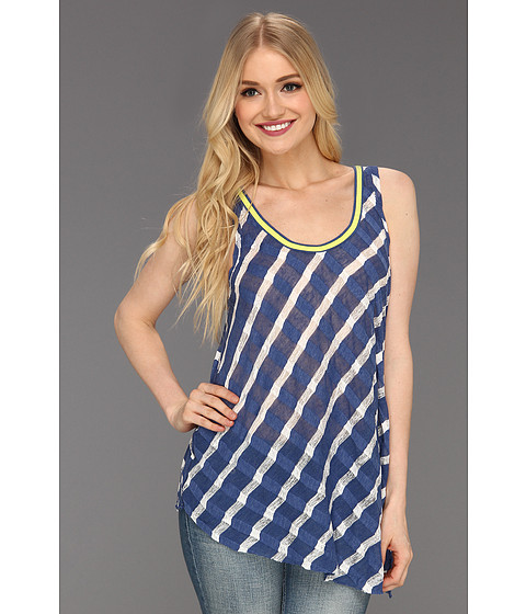 Tricouri Free People - Wavy Stripe Tank - Blue Combo