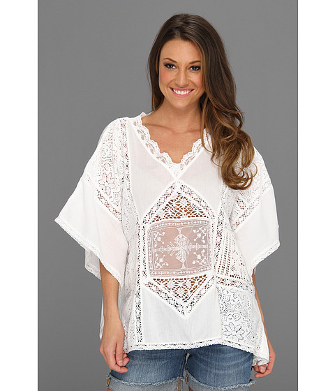 Tricouri Free People - Forest Nymph Tunic - White
