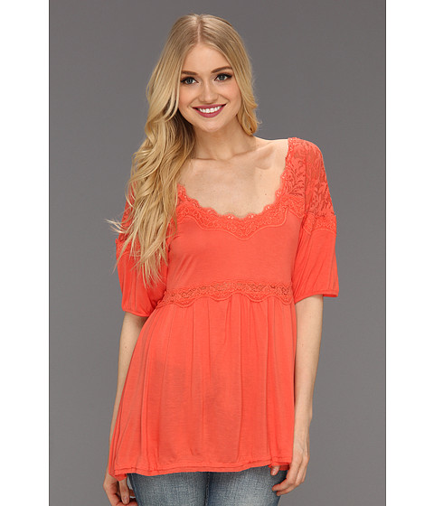 Tricouri Free People - Retro Babydoll Top - Coral Reef