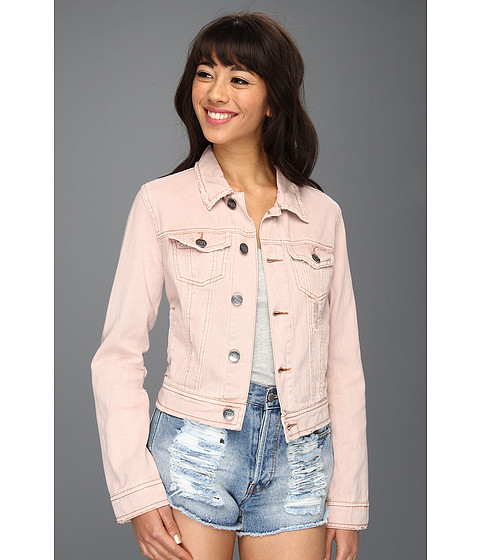 Sacouri Free People - Colored Denim Jacket - Pale Pink