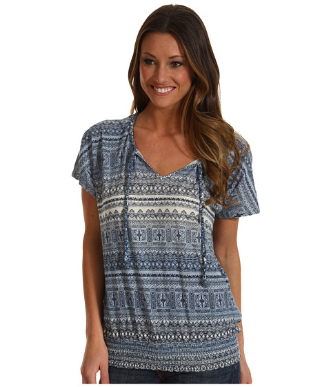 Bluze Lucky Brand - Mayan Ombre Georgina Top - Blue Multi