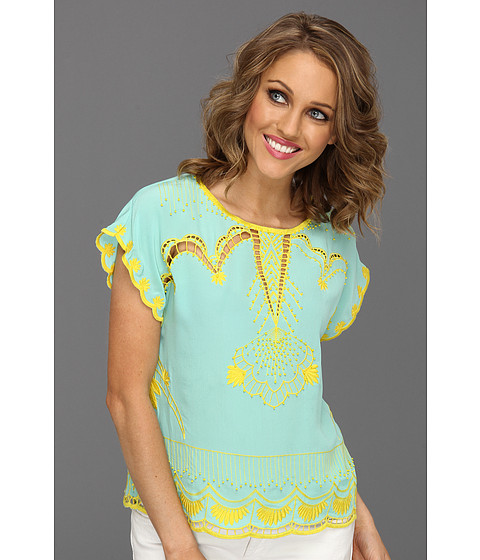 Bluze Nanette Lepore - Olympia Top - Mint/Marigold