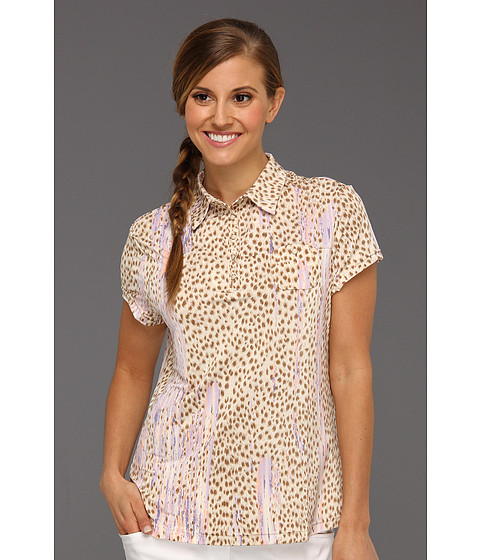 Tricouri DKNY - Animal Print Short Sleeve Top - Wheat
