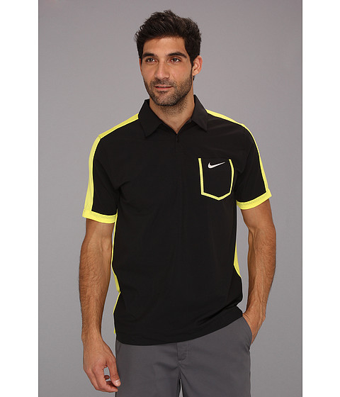 Tricouri Nike - New Lightweight Color Block Polo - Black/Sonic Yellow/Sonic Yellow