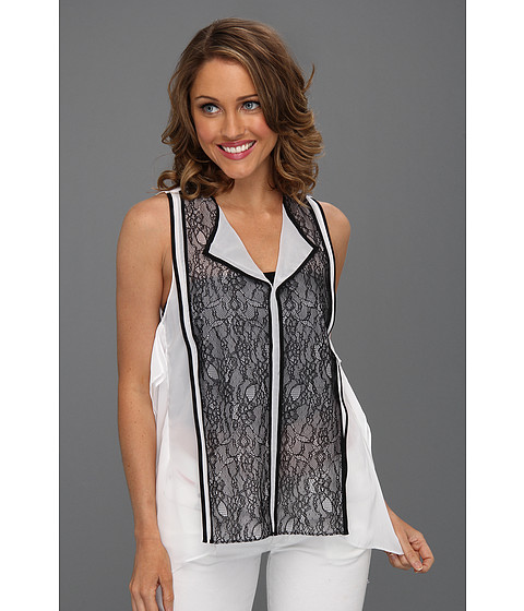 Bluze Kenneth Cole - Dixie Sleeveless Lace Top - White/Black
