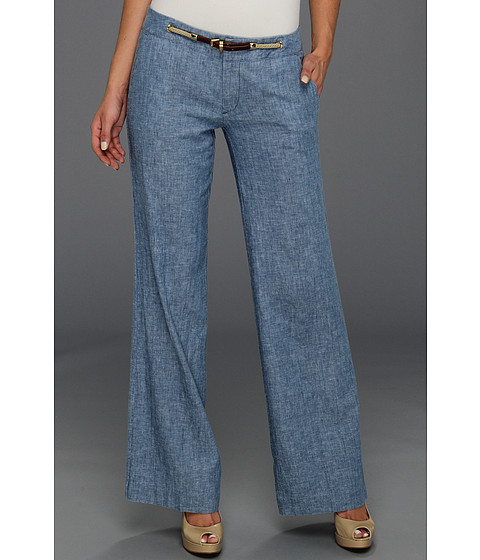 Pantaloni Michael Kors - Chambray Rope Wide Leg Pant - Light Indigo