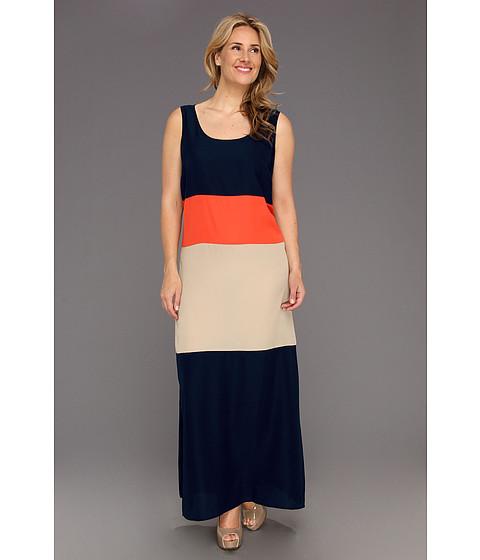 Rochii Michael Kors - Plus Size Colorblock Tank Maxi Dress - Navy