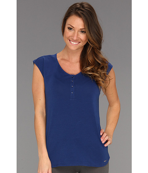 Tricouri Calvin Klein - Sultry Cap Sleeve Sleep Top S1608 - Star Gazer