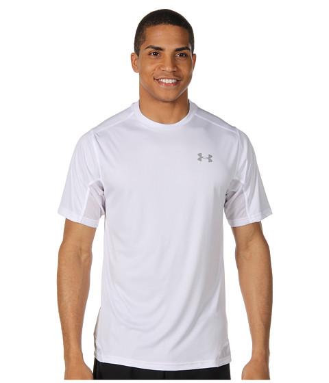 Tricouri Under Armour - HeatGear® Flyweight Run S/S Tee - White/White/White/Reflective