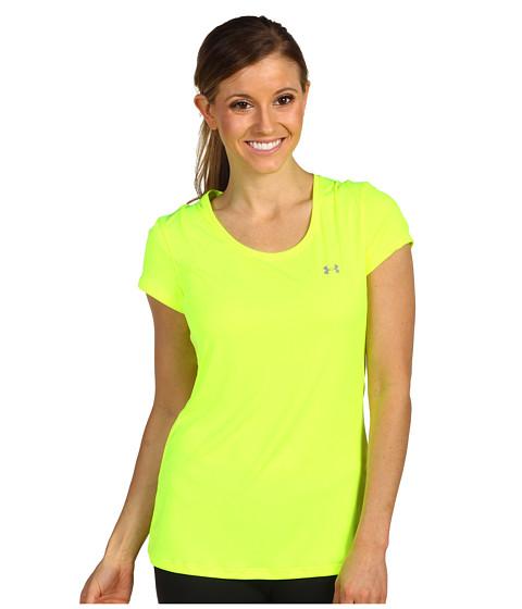 Tricouri Under Armour - HeatGearî Flyweight Tee - High-Vis Yellow/High-Vis Yellow/Reflective