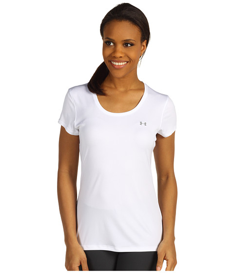 Tricouri Under Armour - HeatGearî Flyweight Tee - White/White/Reflective