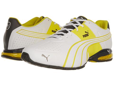 Adidasi PUMA - Cell Surin - White/Dark Shadow/Blazing Yellow