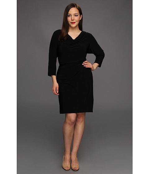 Rochii Calvin Klein - Plus Size Three Quarter Sleeve Dress - Black