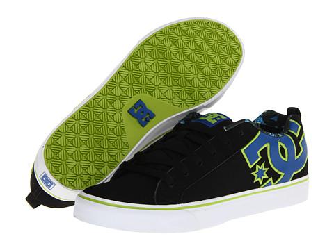 Adidasi DC - Court Vulc SE - Black/Royal/Soft Lime