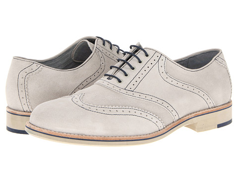 Pantofi Johnston & Murphy - Ellington Wing Tip - White Suede