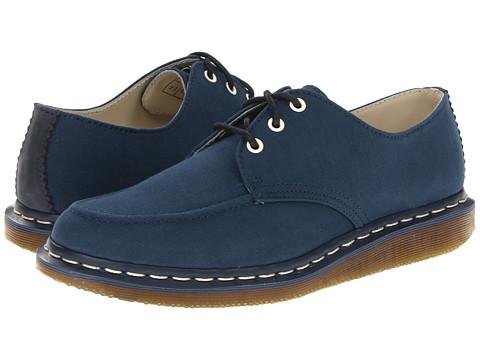 Pantofi Dr. Martens - Buddy Mocc Toe Shoe - Navy Fine Canvas