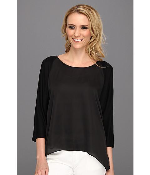 Bluze Michael Kors - Short Sleeve Woven Panel Top - Black