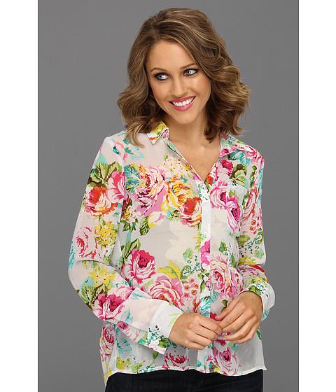 Bluze Brigitte Bailey - Carden Floral Chiffon Top - White