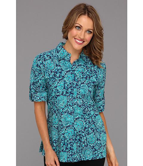 Tricouri Jones New York - Roll Sleeve Shirt w/ Contrast Facings 10426019 - Navy Sea Combo