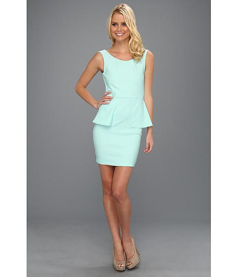Rochii Type Z - Eliza Peplum Dress - Aqua Mint