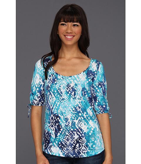 Bluze Lucky Brand - Tribal Watercal Tina Tee - Blue Multi