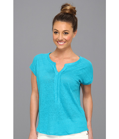 Bluze Lucky Brand - April Pleated Placket Top - Capri Breeze