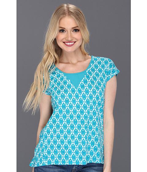 Bluze Lucky Brand - Carina Ikat Top - Teal Multi