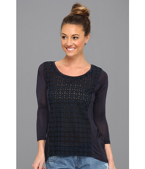 Bluze Lucky Brand - Ellis Cut Out Top - American Navy