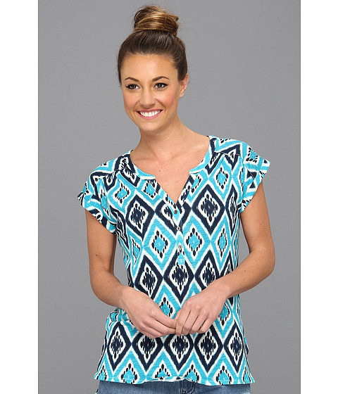 Bluze Lucky Brand - Ikat Diamond Top - Blue Multi