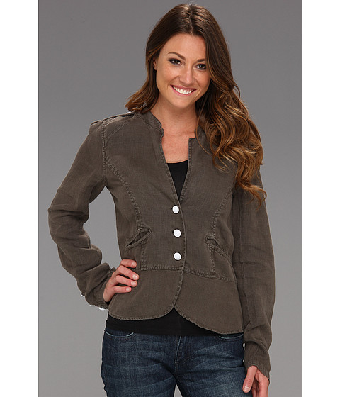 Jachete Sanctuary - Linen Peplum Jacket - OD Green