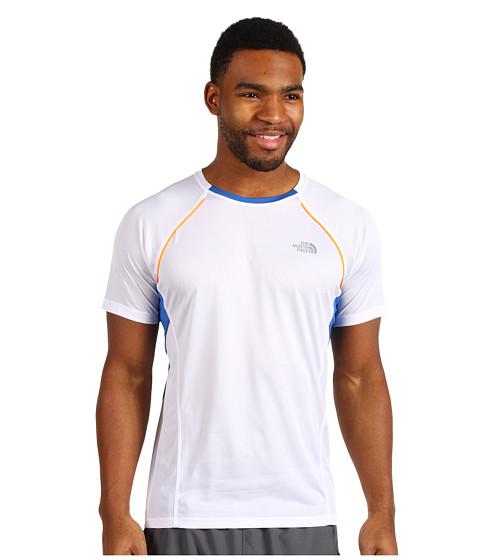 Tricouri The North Face - Better Than Nakedâââ¬Å¾Ã¢ S/S Shirt - TNF White/Nautical Blue/TNF White