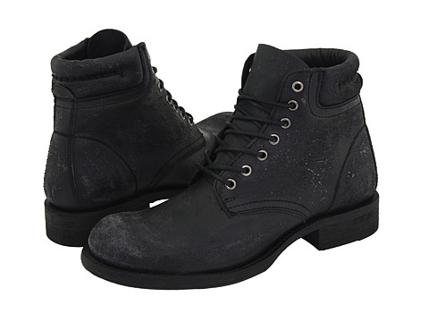 Ghete Frye - Fulton Lace Up - Black Distressed Leather