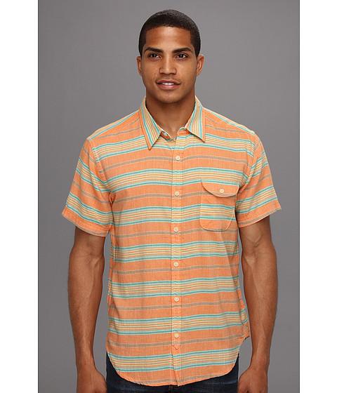 Camasi Lucky Brand - Sunchase Stripe S/S Shirt - Orange