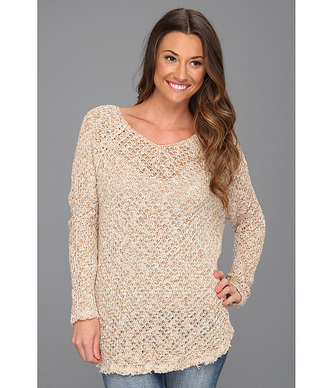 Bluze Free People - Poppyseed Pullover - Oatmeal/Heather
