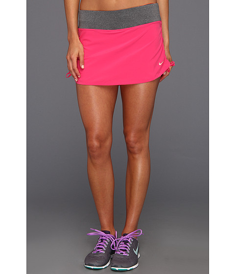 Fuste Nike - Nike Rival Stretch Woven Skort - Pink Force/Bright Citrus/Metallic Red Bronze