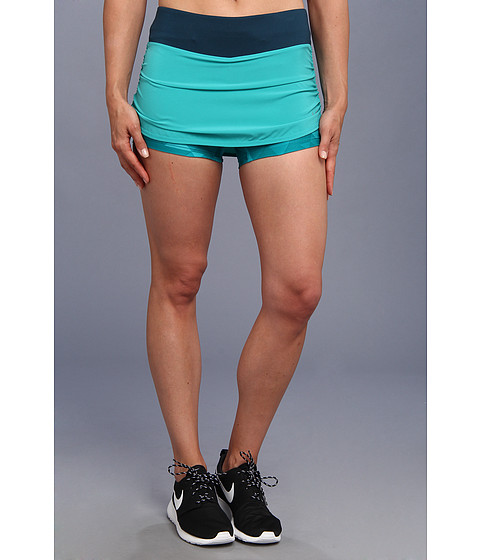 Fuste Nike - Nike Rival Stretch Woven Skort - Turbo Green/Nightshade/Reflective Silver